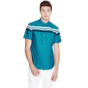 Lain Short-Sleeve Poplin Shirt | GuessFactory.com
