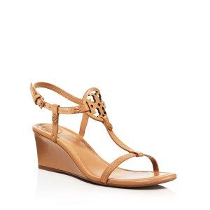 Tory Burch Miller T Strap Wedge Sandals | Bloomingdale's