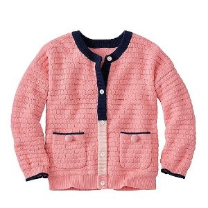 Girls Cozy Cotton & Wool Cardigan