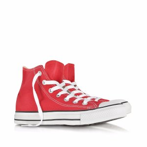 Converse Limited Edition All Star Red Canvas High Top Sneaker 4.5 (6.5 WOMENS US | 4.5 UK | 37 EU) at FORZIERI