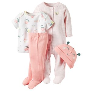 Baby Girl 4-Piece Babysoft Take-Me-Home Set | Carters.com