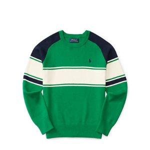 Striped Cotton Sweater - Sweaters � Big Kid (sizes 8-20) - RalphLauren.com