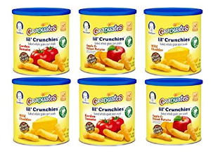 Gerber Graduates Lil' Crunchies,Ranch, 1.48-Ounce Canisters (Pack of 6)