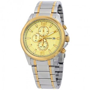Citizen Chronograph Gold Dial Men's Watch AN3554-54P - Holiday Sale Event - Sale - Jomashop