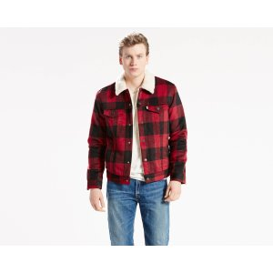 The Sherpa Trucker Jacket | Red Plaid |Levi's® United States (US)
