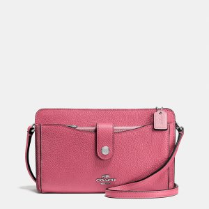 MESSENGER with pop-up pouch in colorblock leather by Coach