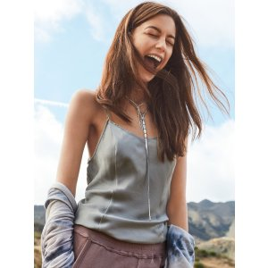 Intimately Silver Foxy Silk Slip at Free People Clothing Boutique
