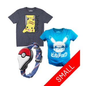 Pokemon Go Plus Small T-Shirt Bundle