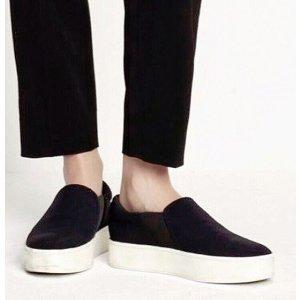 Vince Warner Zip Suede Platform Sneakers