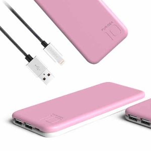 $21.98 PURIDEA S2 Series Dual USB Power Bank + Puridea 3.3ft / 1m Nylon Braided Tangle-Free Lightning