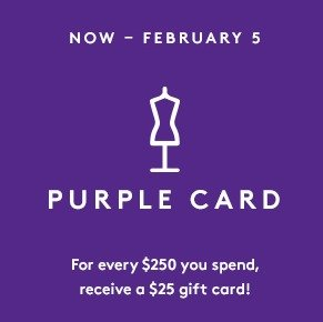 Free $25 Gift Cardwith every $250 spent @ Barneys Warehouse