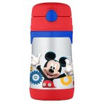 THERMOS Vacuum Insulated Stainless Steel 10-Ounce Straw Bottle, Mickey Mouse Clubhouse