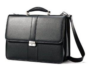 $69.29 Samsonite Leather Flapover Briefcase