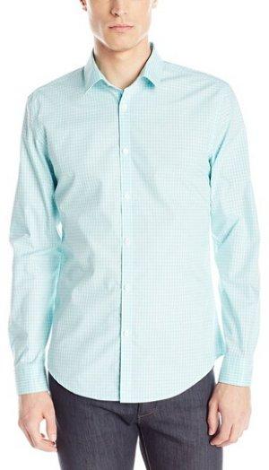 $18.52 Calvin Klein Men's End On End Shadow Check Button-Front Shirt