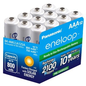 12-Pack Panasonic Eneloop 2000mAh Ni-MH Pre-Charged Batteries