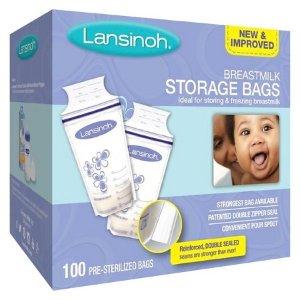 Lansinoh Milk Storage Bag 100 Ct : Target