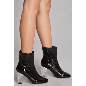 Yoki Sheeny Faux Leather Boots