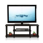 $39.97 Furinno Turn-N-Tube No Tools 3D 3-Tier Entertainment TV Stands, Walnut