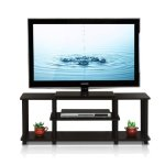 Furinno Turn-N-Tube No Tools 3D 3-Tier Entertainment TV Stands, Walnut
