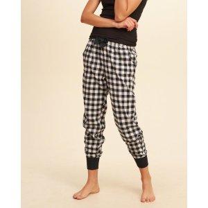 Girls Flannel Sleep Joggers | Girls Clearance | HollisterCo.com