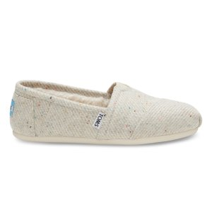 Cream with Rainbow Fleck Wool Women's Classics | TOMS