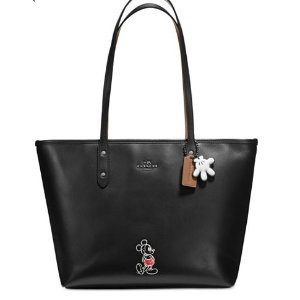 COACH Mickey City Tote in Calf Leather - Handbags & Accessories - Macy's