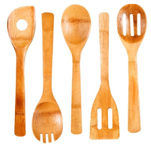 Cook N Home 5-Piece Bamboo Kitchen Tool
