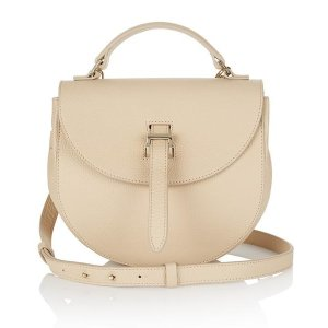 Ortensia luxury sand leather saddle bag | meli melo Double 12 sale