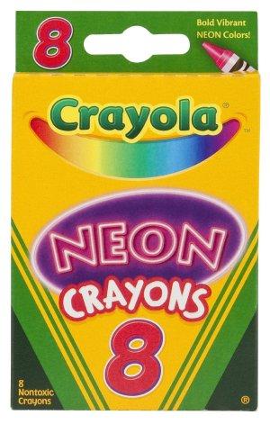 $1.00 Crayola Neon Crayons, 8 Count