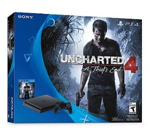 Start! $249 PlayStation 4 slim 500GB Console Bundle with Uncharted 4