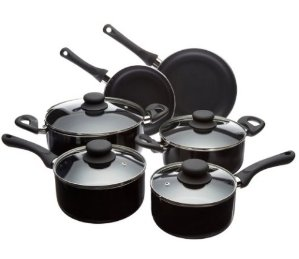 AmazonBasics 10-Piece Nonstick Cookware Set