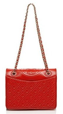 $348.75(Org. $465) 25% Off Tory Burch Shoulder Bag Fleming Patent Medium @ Bloomingdales