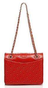 $348.75(Org. $465) 25% Off Tory Burch Shoulder Bag Fleming Patent Medium @ Bloomingdales