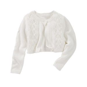 Toddler Girl Cropped Pointelle Cardi | OshKosh.com