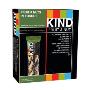 $10.59 KIND Bars, Fruit & Nuts in Yogurt, Gluten Free, 1.4 Ounce Bars, 12 Count