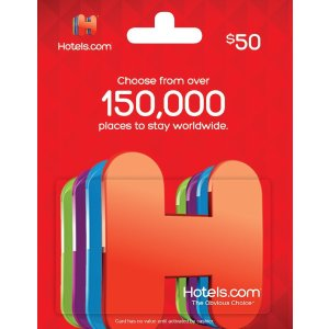 Hotels.com Gift Card $50: Gift Cards
