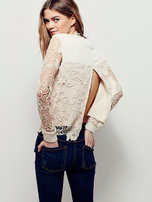 $51.2 Free People Pretty Rad Pullover On Sale @ 6PM.com