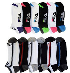 Fila Shock Dry No-Show Athletic Socks (6 Pairs)