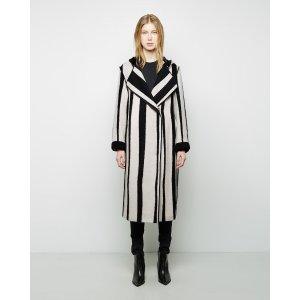 ACNE STUDIOS | Tria Long Jacquard Coat | Shop at La Garçonne