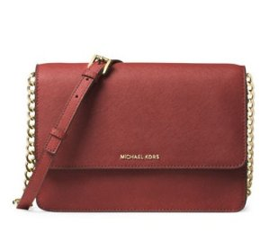 50% off + Extra 20% MICHAEL MICHAEL KORS Daniela Large Saffiano Leather Crossbody Bag