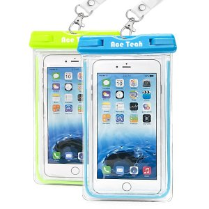 2 Pack Ace Teah Clear Universal Waterproof Case