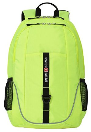 $9.94 SwissGear SA6639 Neon Yellow Computer Backpack - Fits Most 15 Inch Laptops and Tablets