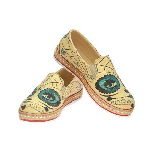 Goby Yellow Sugar Skull Slip-On Espadrille - Women | zulily