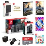 Nintendo Switch with Gray Joy-Con Console Starter Bundle Two