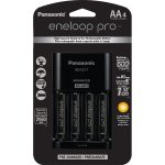 Panasonic K-KJ17KHCA4A Eneloop Pro Individual Cell Battery Charger with 4 AA Ni-MH Rechargeable Batteries