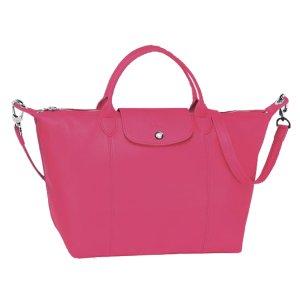 Longchamp Le Pliage Cuir Medium Handbag | Sands Point Shop