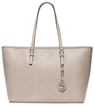 $134.1(Org. 298) MICHAEL Michael Kors Jet Set Travel Medium Top Zip Multifunction Tote @ macys.com