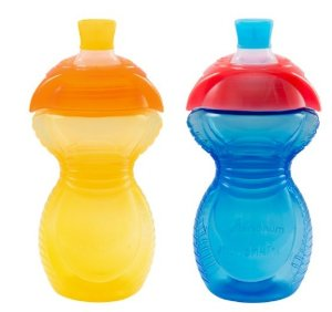 $2.8Munchkin Click Lock Bite Proof Sippy Cup, Yellow/Blue, 9 Ounce, 2 Count
