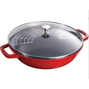Staub Cast Iron 4.5-qt Perfect Pan - Cherry