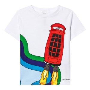 Burberry White Rocket Phone Print Tee | AlexandAlexa